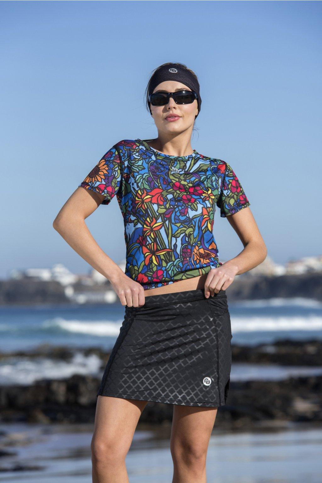 Běžecká sukně shiny black srdgl 90 1