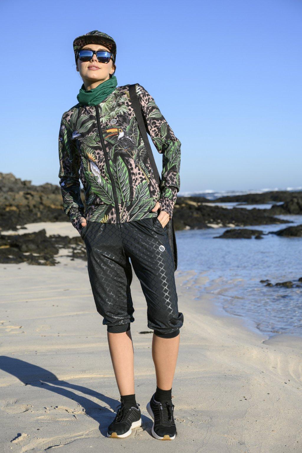 krátké volné kalhoty shiny black sddc3 90T 1
