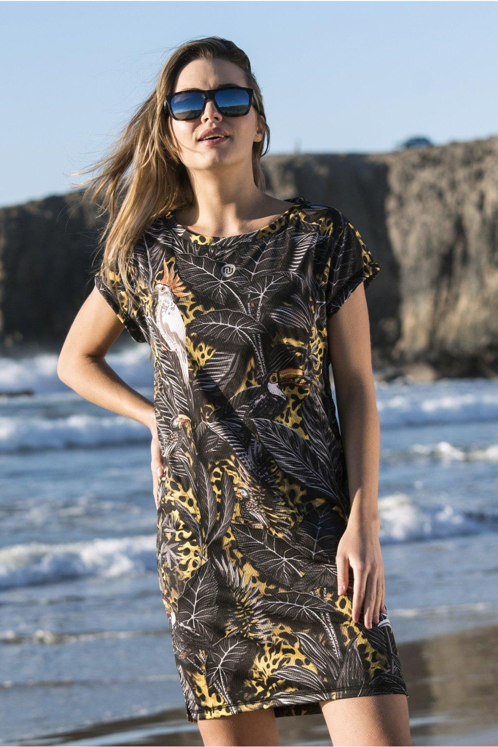 Volné sportovní šaty s rukávy selva yellow oss2 11t2 1