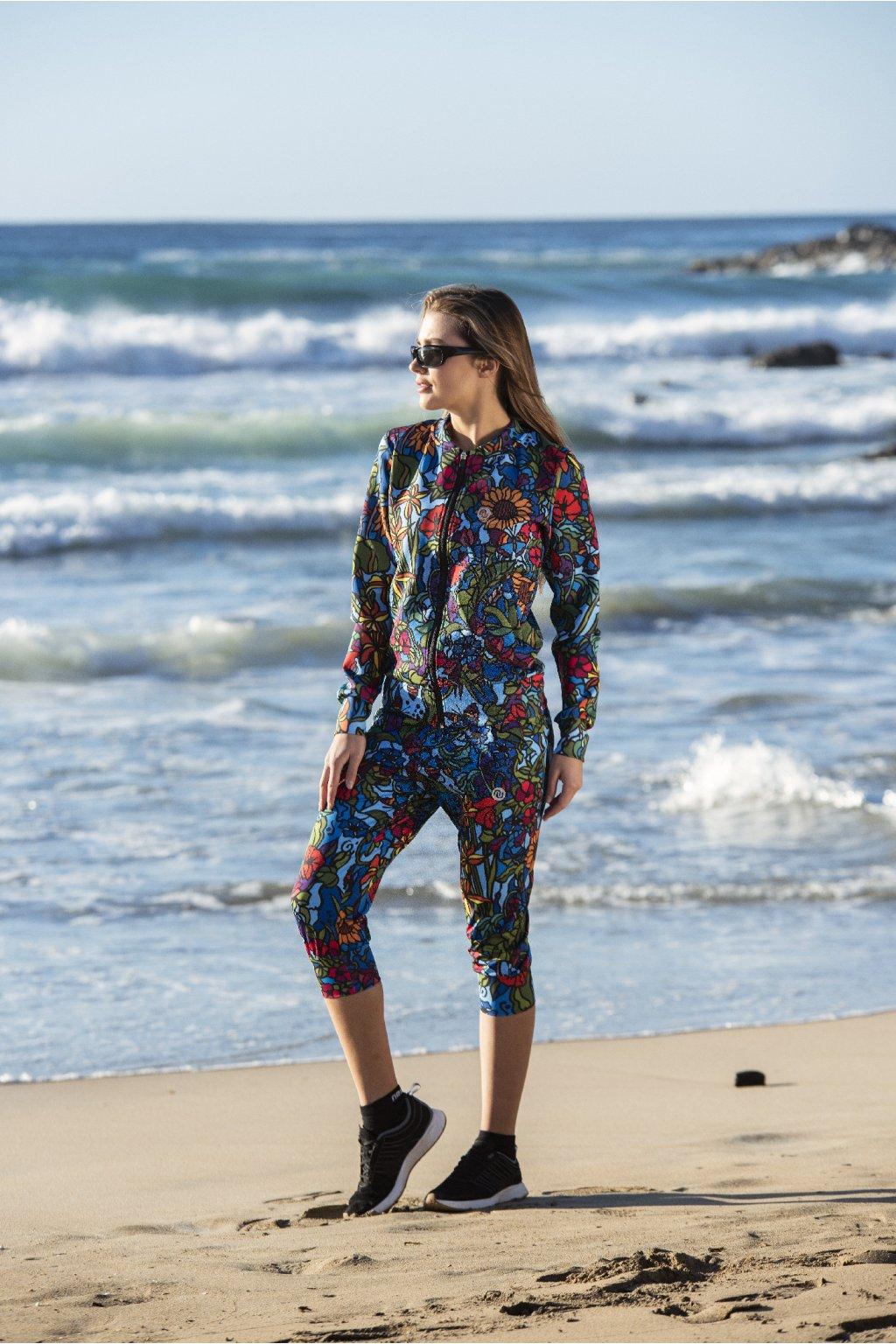 Volné krítké kalhoty mosaic flora sddc3 11m4 1