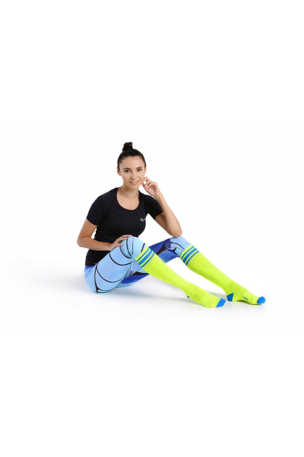 3ffe29bd812 Běžecké podkolenky PR-2 - Citronová - Nessi Sportswear