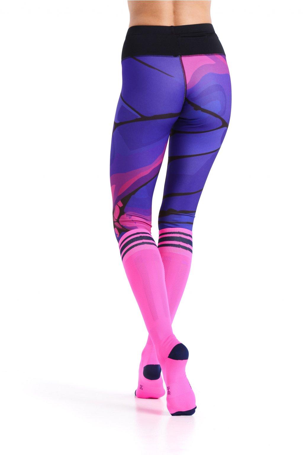 e1b0f01048d Běžecké podkolenky PR-5 - Růžová - Nessi Sportswear