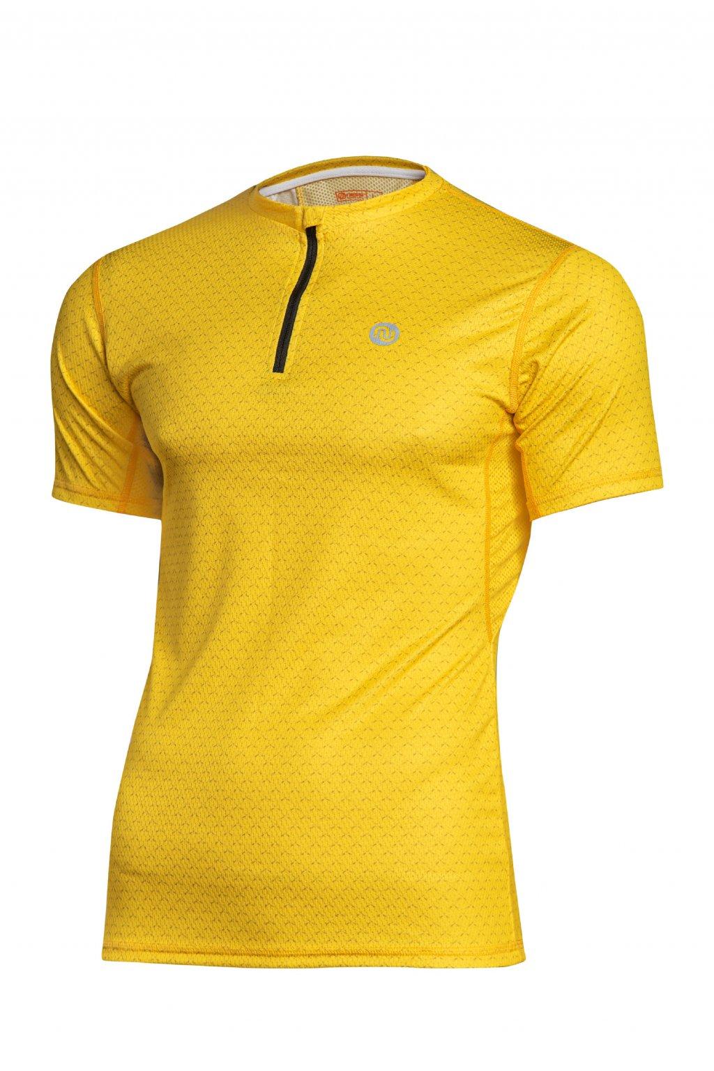 Pánské běžecké triko yellow mirage kmb 11x1 1
