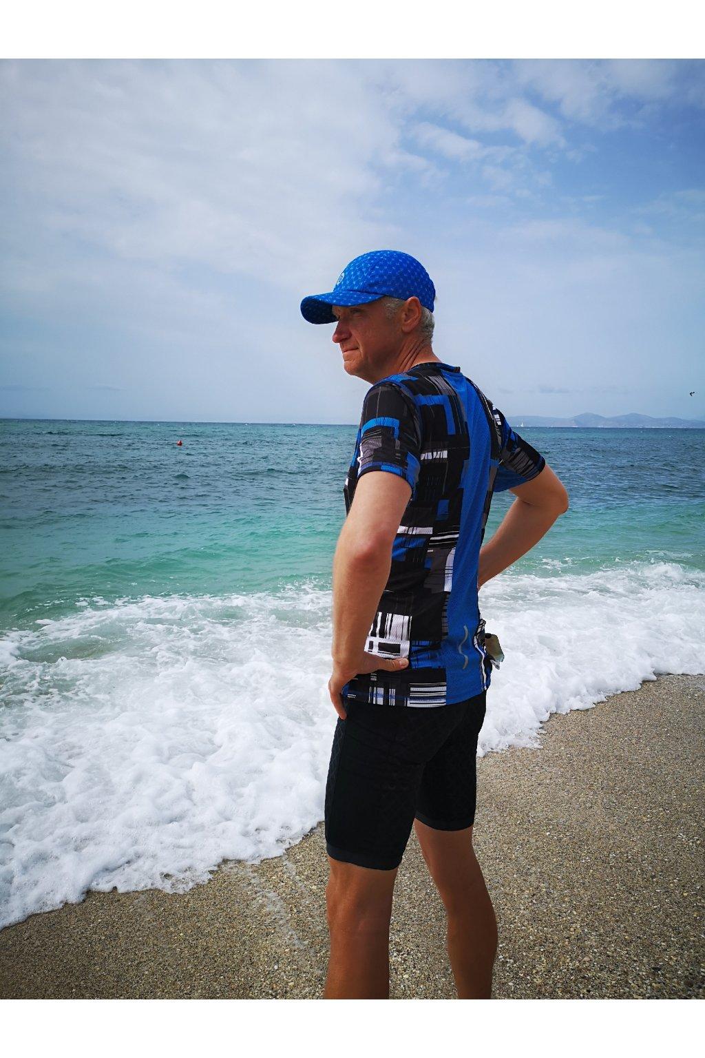Pánské Běžecké Tričko se zipem KMB-11S3 Krado Blue