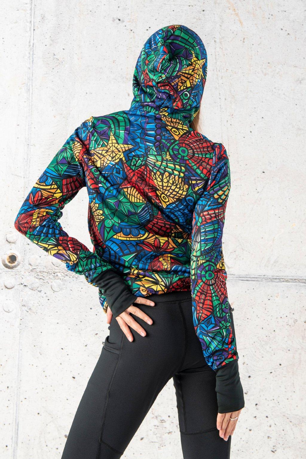 Běžecká bunda mosaic lumo hrdk 12m4 1