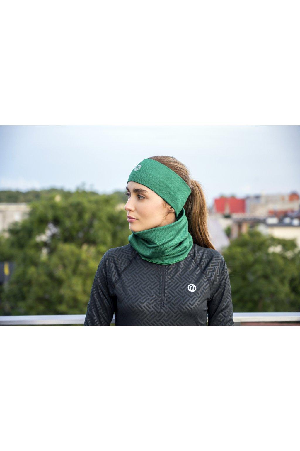 Sportovní Termoaktivní nákrčnik AB2-50F - Green