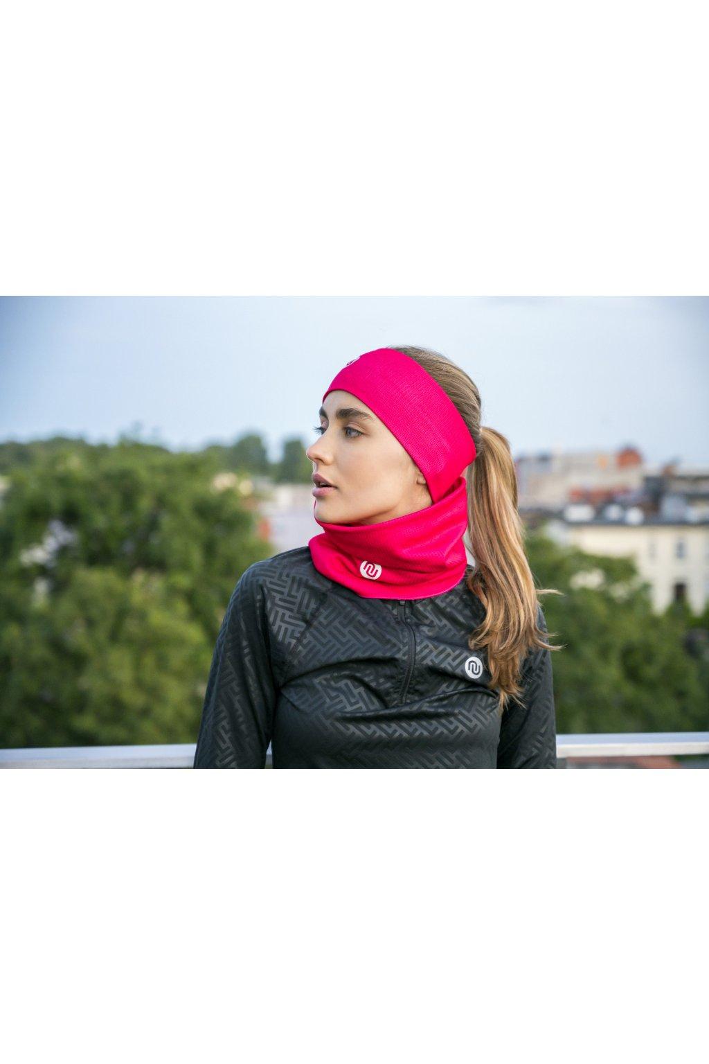 Sportovní Termoaktivní nákrčnik AB2-11X2 - Mirage Pink