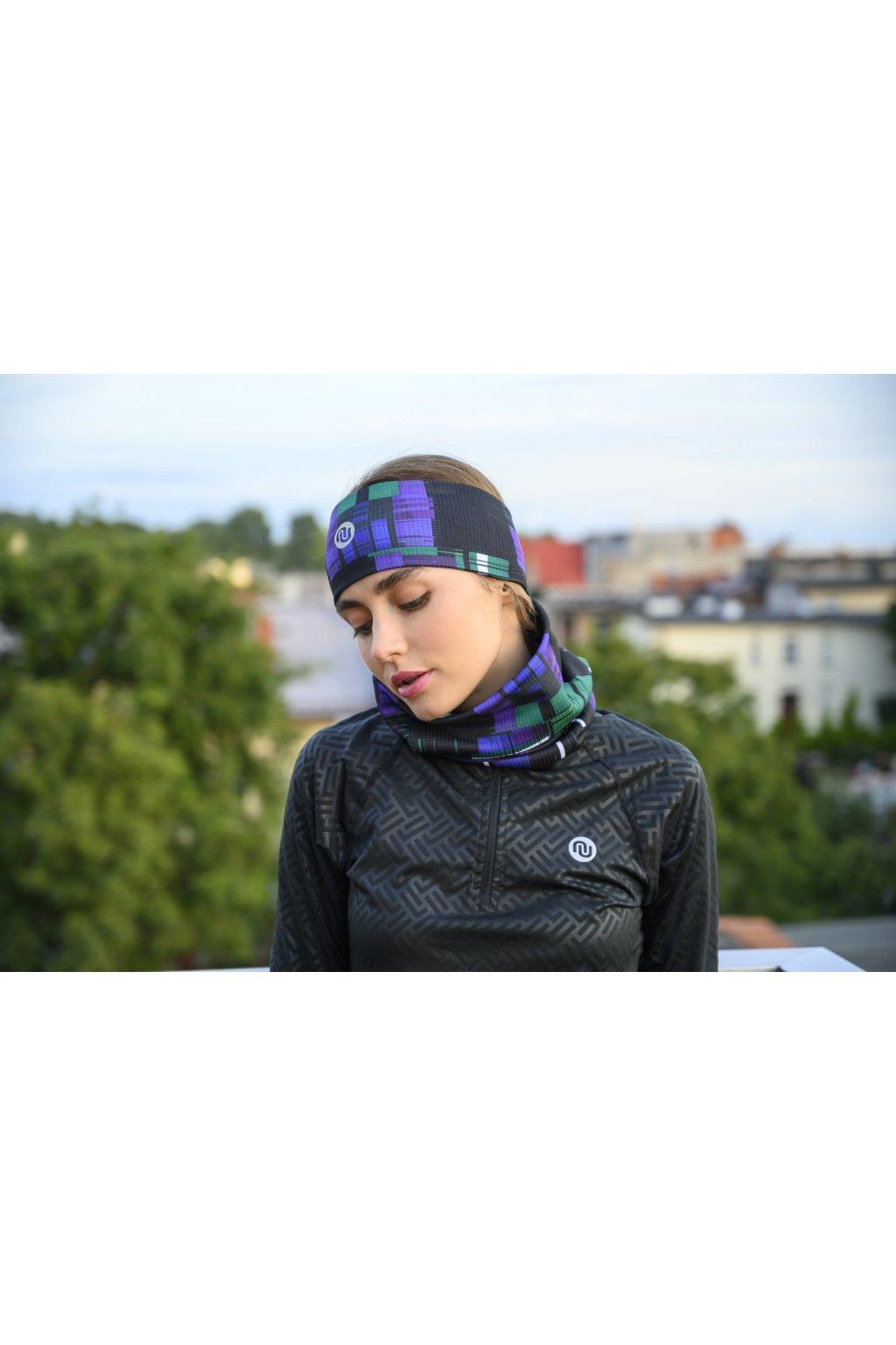 Sportovní Termoaktivní nákrčnik AB2-12S6 - Krado Purple