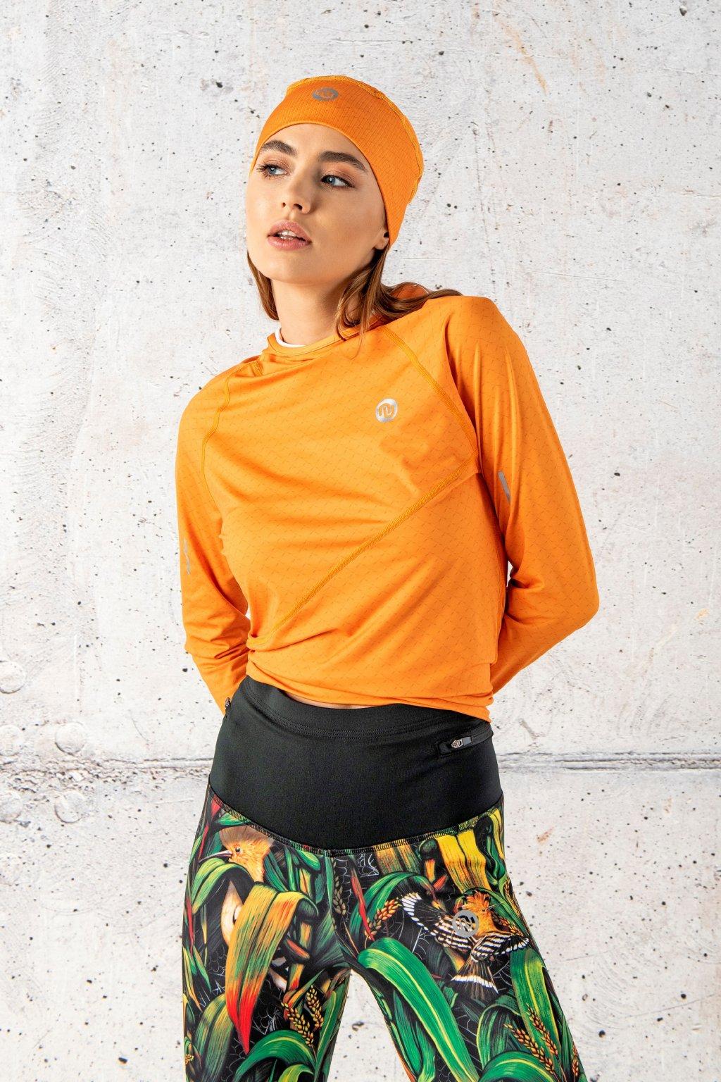 Mikina s kapucí a průstřihem na sporttester orange mirage lbk 11x3 1