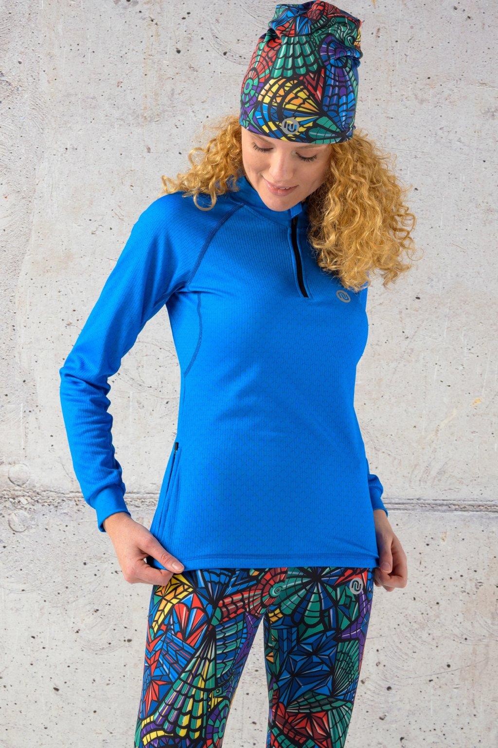 Zateplené tričko blue mirage kbl 11x7 1