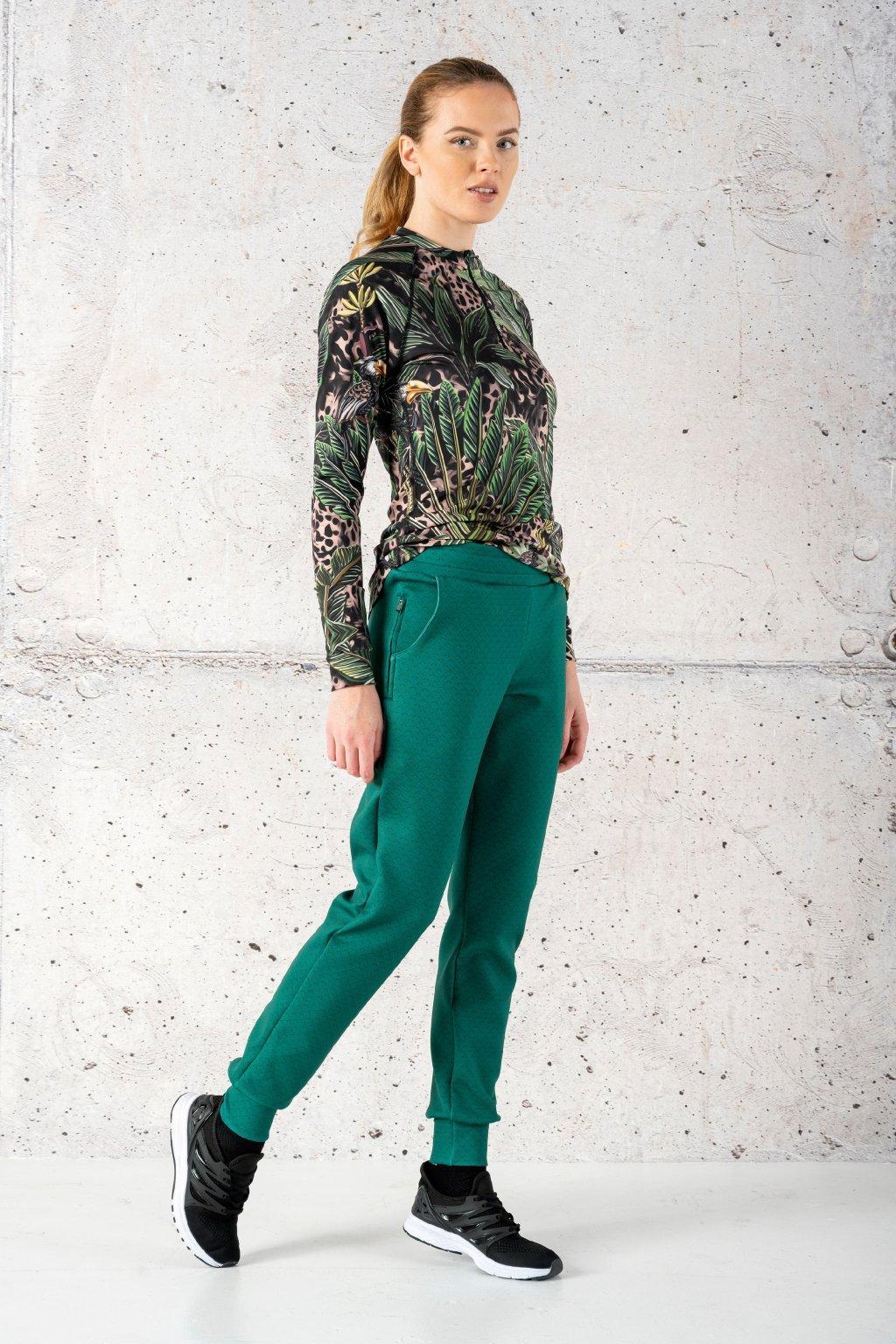 Volné sportovní kalhoty green mirage sdwn 11x5 1