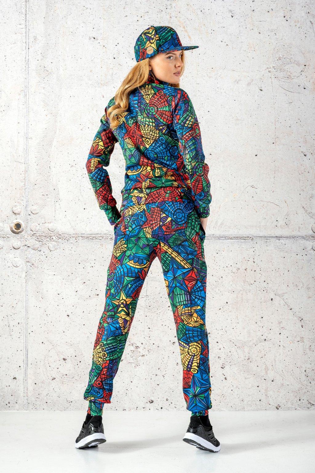 Volné sportovní kalhoty mosaic lumo sdwn 12m4 1