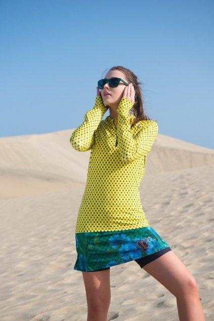 Sportovní sukně se šortkami ultra SRDGL-1VP - Chrpy a čmeláci