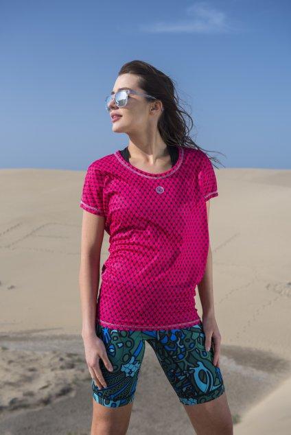 Dámské Tričko s netopýřími rukávy OTD-9G2 - Galaxy Pink