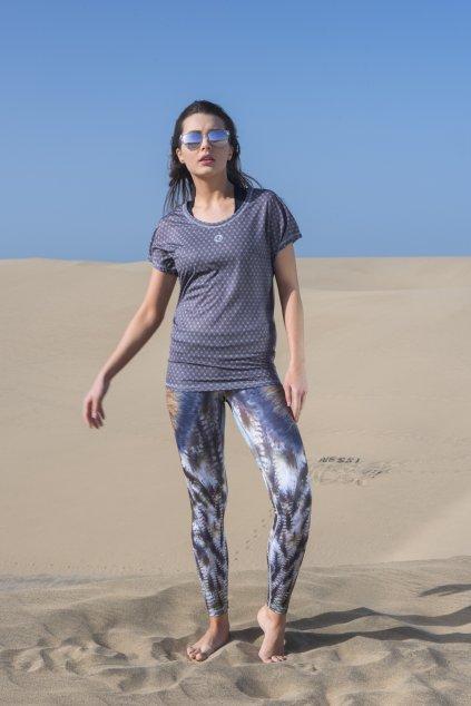 Dámské Tričko s netopýřími rukávy OTD-9G9 - Galaxy Grey
