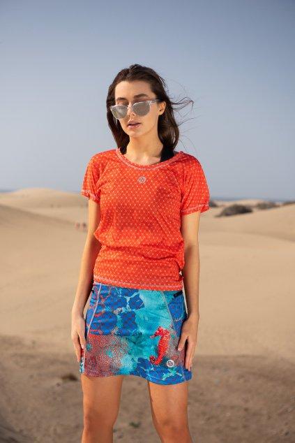 Sportovní sukně se šortkami ultra SRDGL-1VR - Coral Reef