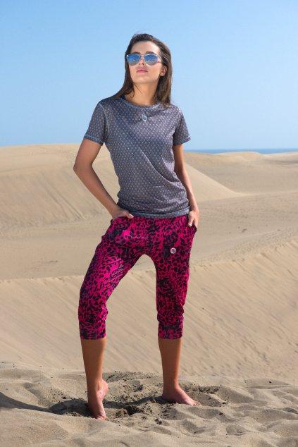 Volné sportovní 3/4 kalhoty SDDC3-9K1 - Pink Panther