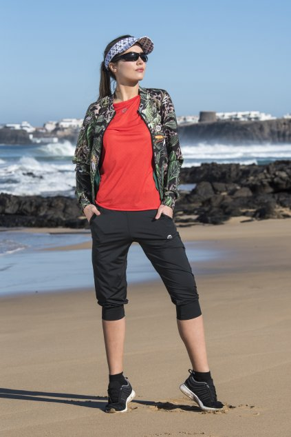 krátké volné kalhoty total black sddc3 90 1