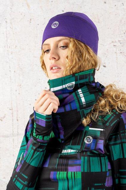 Trojcípý šátek krado purple atk 12s6 1