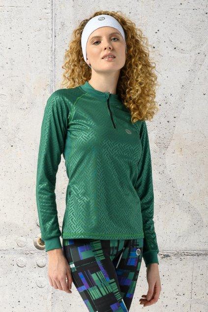 Tričko shiny 2 green kbl 1250t 1