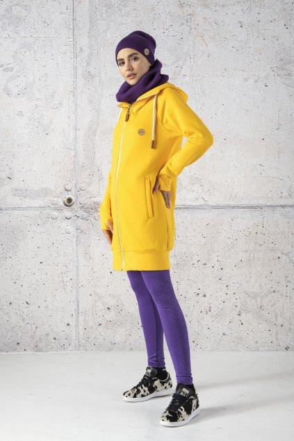 Dlouhá mikina s kapucí Fuerta ORFR-10 Yellow