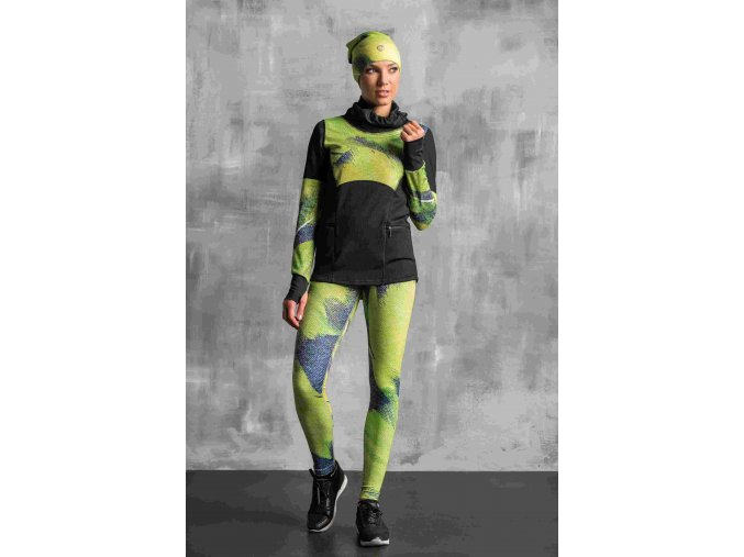 Běžecké/Fitness Legíny OSLK952 - Lime feather jeans