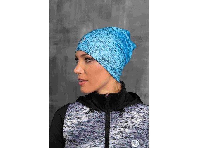 Zateplená sportovní čepice ACS-501 - Blue Melange