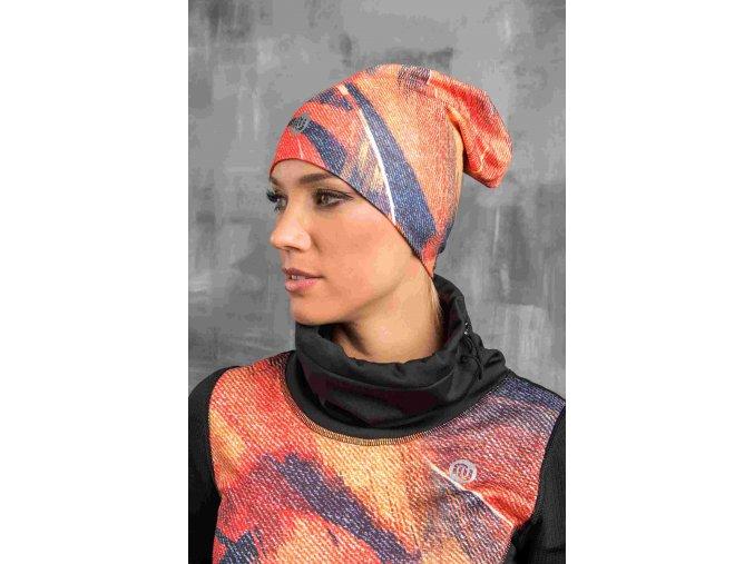 Zateplená sportovní čepice ACS-951 - Orange Feather