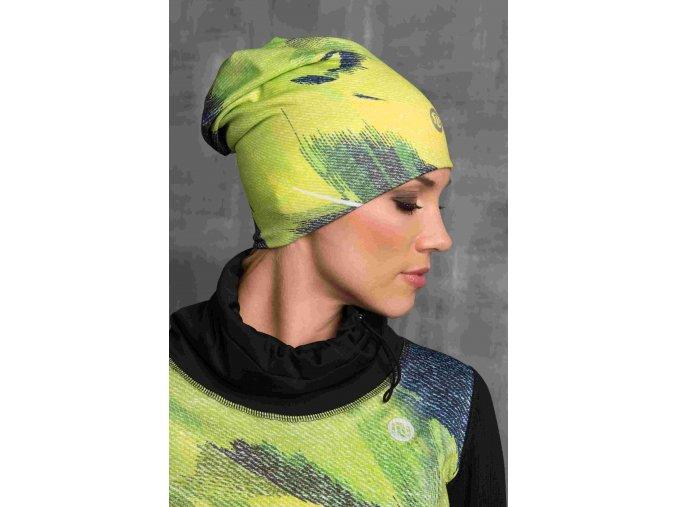Zateplená sportovní čepice ACS-952 - Lime Feather