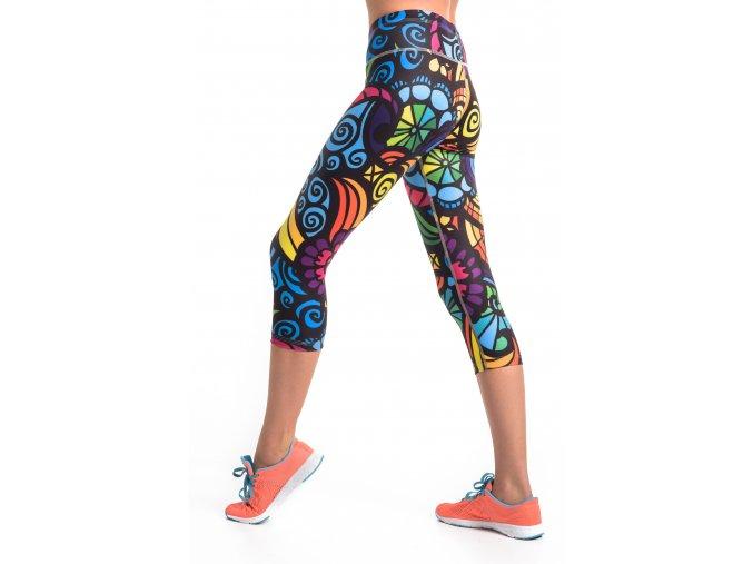 Krátké Běžecké/Fitness Legíny OSTK04L - Mosaic II