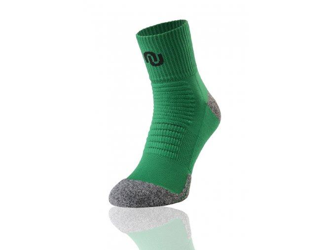 Termoaktivní ponožky ultrarun pro SU4 - Zeleno-šedá