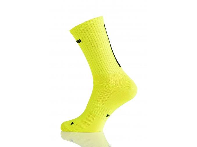 Prodyšné dlouhé ponožky RKD2 - Citronová