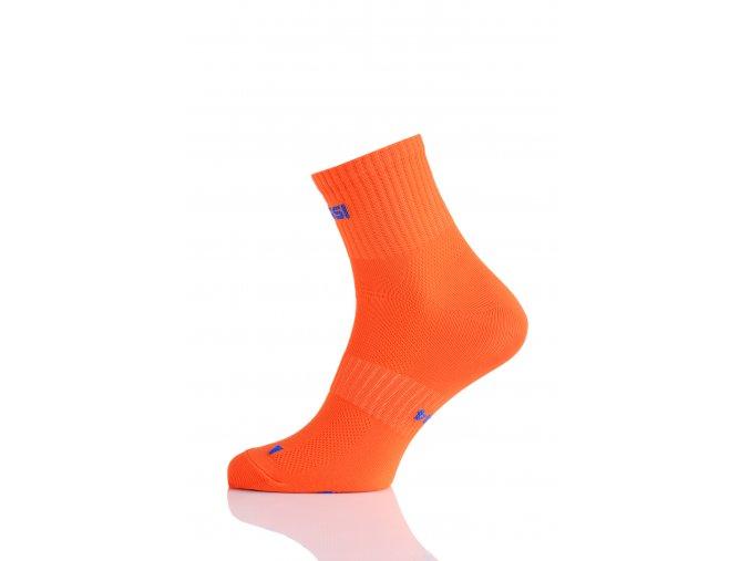 Prodyšné krátké ponožky RKK3 - Oranžová