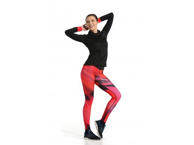Běžecké/Fitness Legíny OSLK51 - Red fether