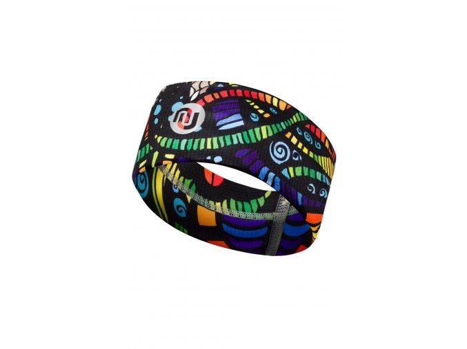 Termoaktivní windstop čelenka 05 - Multicolor