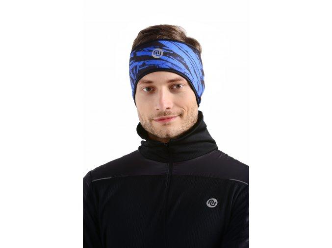 Zateplená sportovní čelenka AOPR-50 - Blue crystals