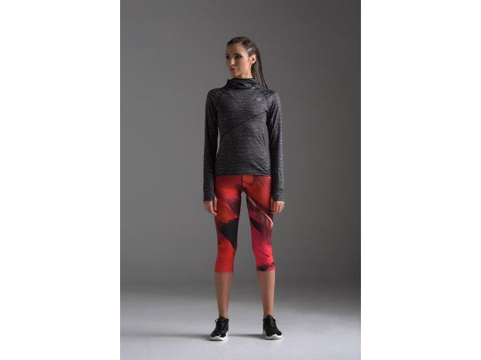 Krátké Běžecké/Fitness Legíny OSTK51 - Red Feather
