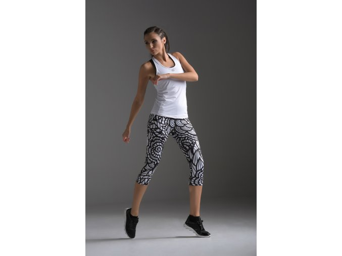 Krátké Běžecké/Fitness Legíny OSTK58 - Black + White