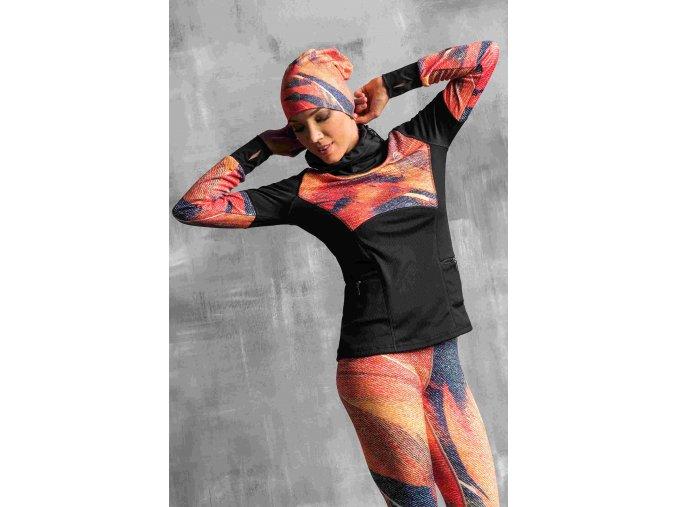 Termoaktivní mikina OBOD951 - Orange feather jeans