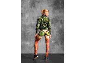 Běžecké Legíny s multifunkčním pasem OSLP114 - Cat´s green eyes