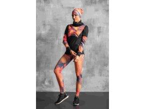 Běžecké/Fitness Legíny OSLK951 - Orange feather jeans