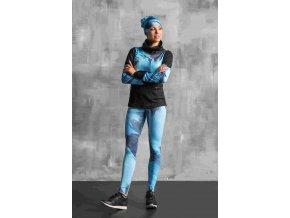 Běžecké/Fitness Legíny OSLK953 - Blue feather jeans