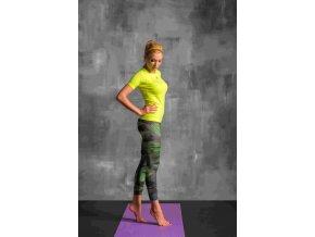 Běžecké/Fitness Legíny 7/8 OSLK62 - Green Feather