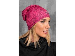Zateplená sportovní čepice ACS-301 - Pink Melange