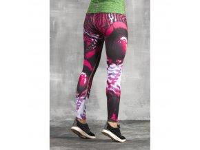 Běžecké/Fitness Legíny OSLK1030 - Pink Butterfly