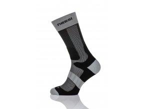 Termoaktivní ponožky s ionty stříbra T1 - Černo-Šedá