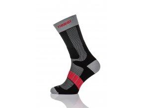 Termoaktivní ponožky s ionty stříbra T2 - Černo-Šedá-Červená