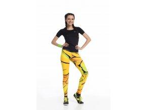 Běžecké Legíny s multifunkčním pasem 01 - Yellow