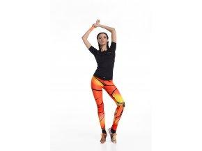 Běžecké Legíny s multifunkčním pasem 43 - Orange