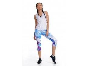 Krátké Běžecké/Fitness Legíny 03N - Blue net